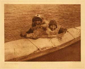 """Kayaks were invented by the native Inuit, Aleut, and Yup'ik people of Arctic North America. Often referred to as """"Eskimos,"""" these indigenous people live in modern day Greenland, Canada, and Alaska"""