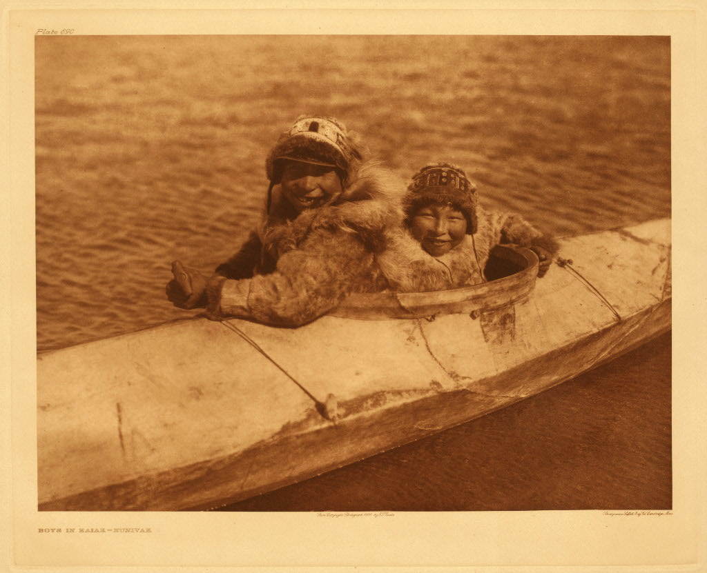 "Kayaks were invented by the native Inuit, Aleut, and Yup'ik people of Arctic North America. Often referred to as ""Eskimos,"" these indigenous people live in modern day Greenland, Canada, and Alaska"