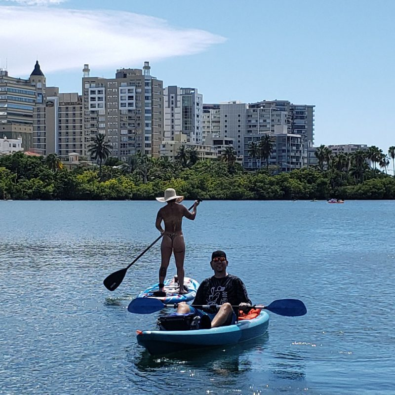 kayaking in the condado lagoon 2020